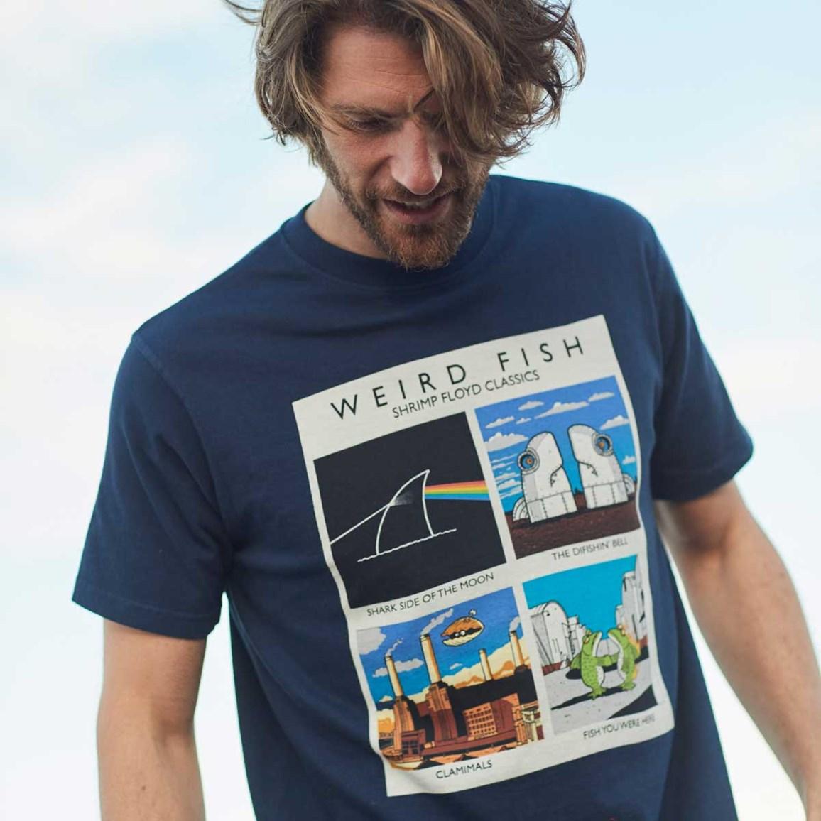e721f49f Shrimp Floyd Artist T-Shirt Maritime Blue