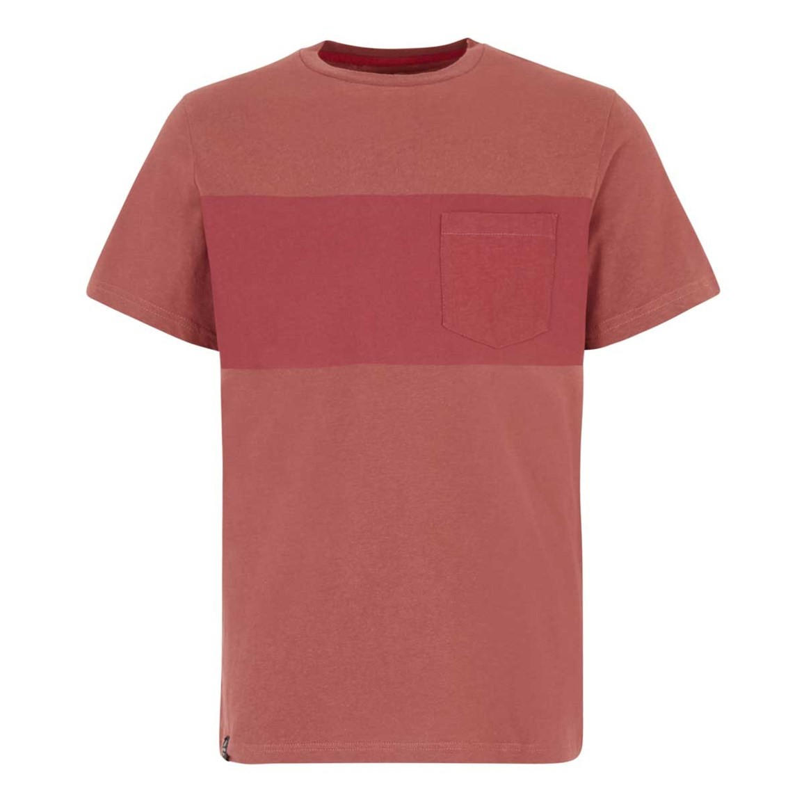 Weird Fish Jenthe Printed Chest Stripe T-Shirt Brick Red