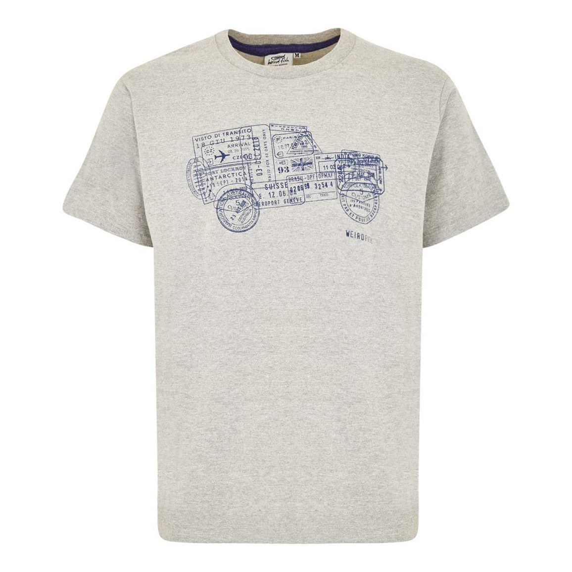 Weird Fish Explorer Branded Tee Grey Marl