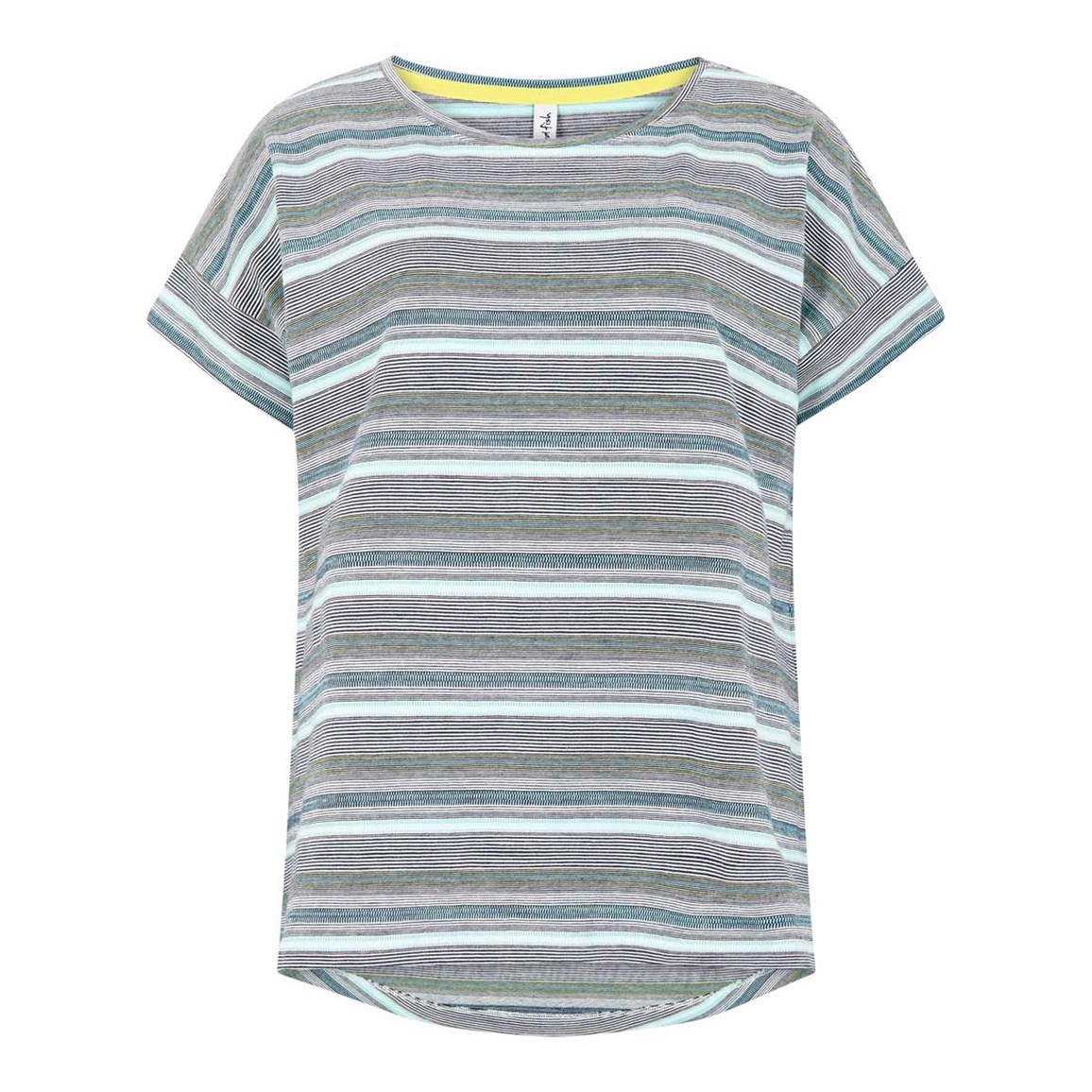 Weird Fish Comanche Jacquard Stripe Tee Dark Navy