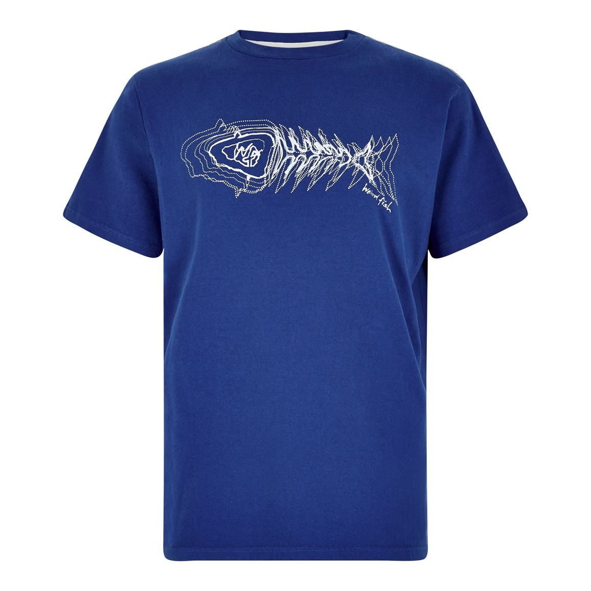 Weird Fish Scribble Branded Tee Deep Ocean