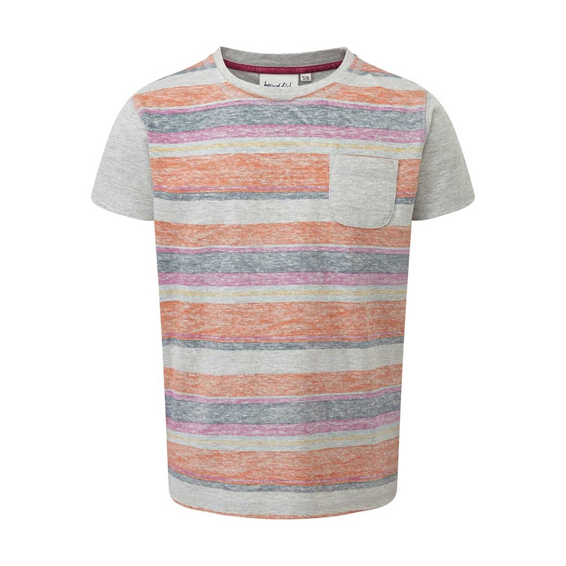 Weird Fish Rubi Printed Stripe Marl Tee Purple Orchid