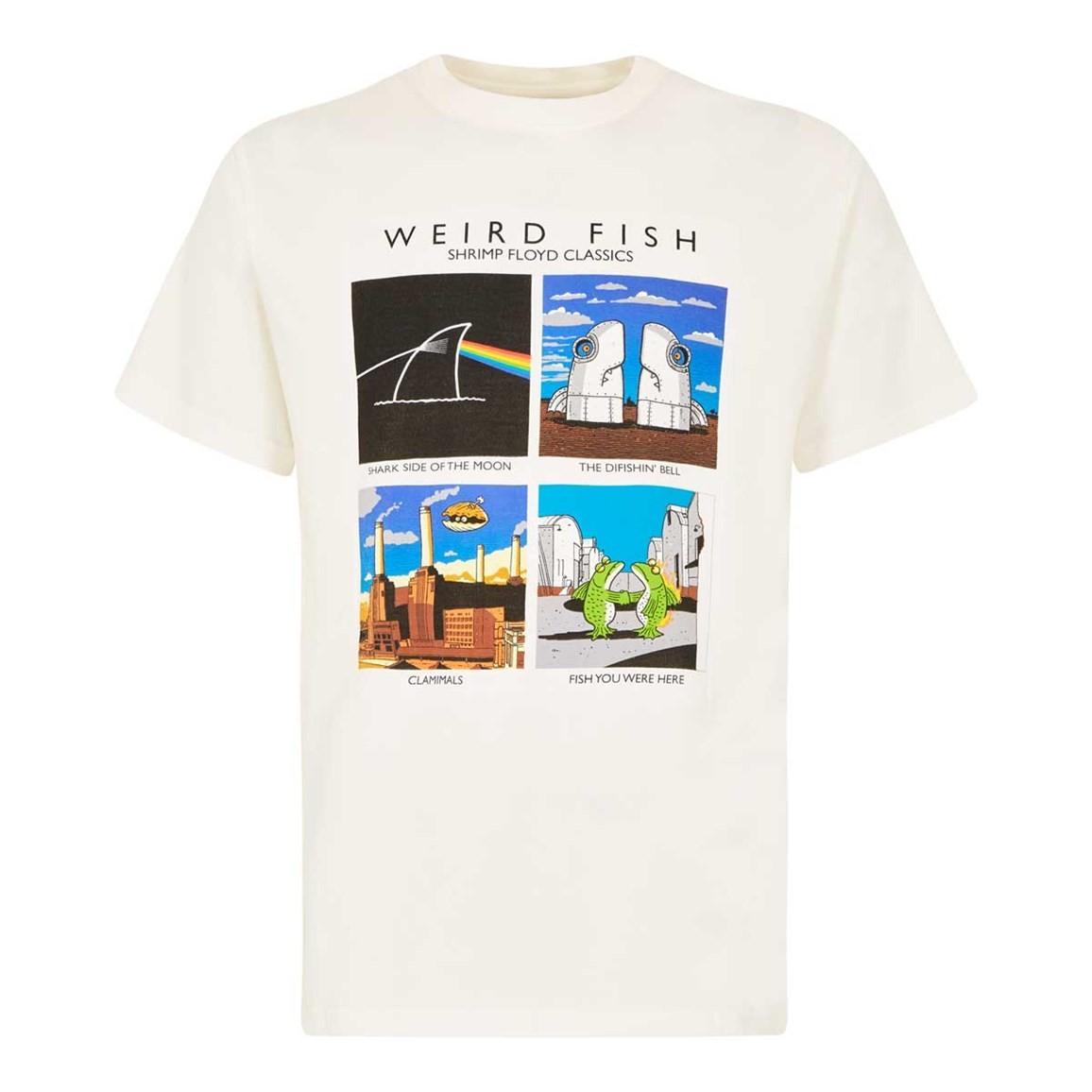 Weird Fish Shrimp Floyd Artist T-Shirt Marshmallow Size 2XL