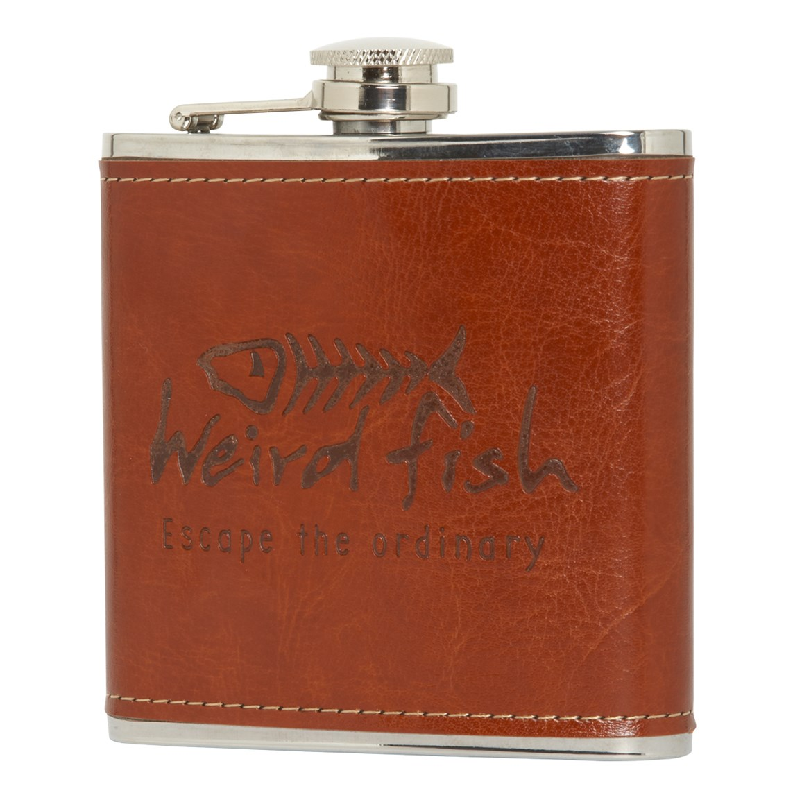 Image of Weird Fish Newcastle Thermal Hipflask Tan Size ONE