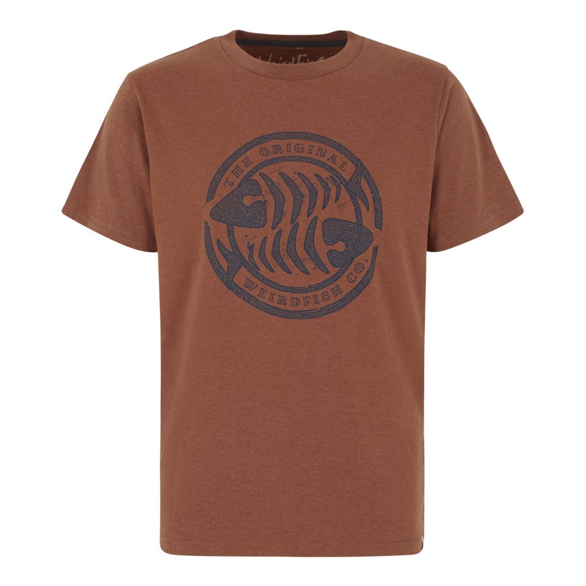 Weird Fish WF Surf Branded Graphic T-Shirt Brick Orange Marl