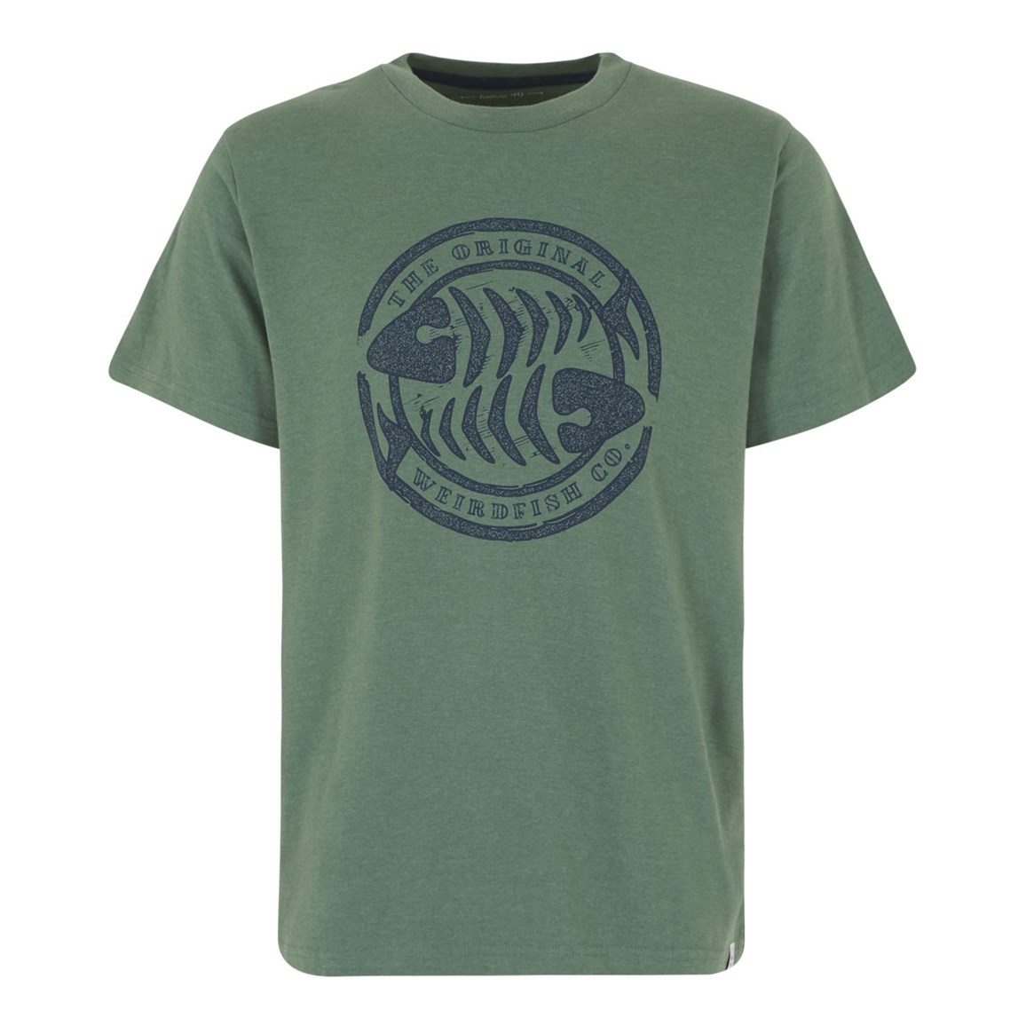 Weird Fish WF Surf Branded Graphic T-Shirt Duck Green Marl