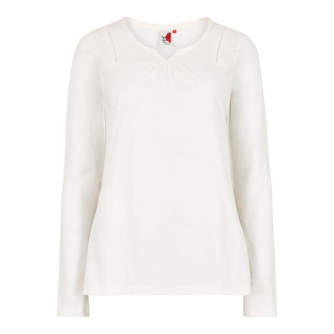 Weird Fish Walkabout Slub Cotton T-Shirt Light Cream