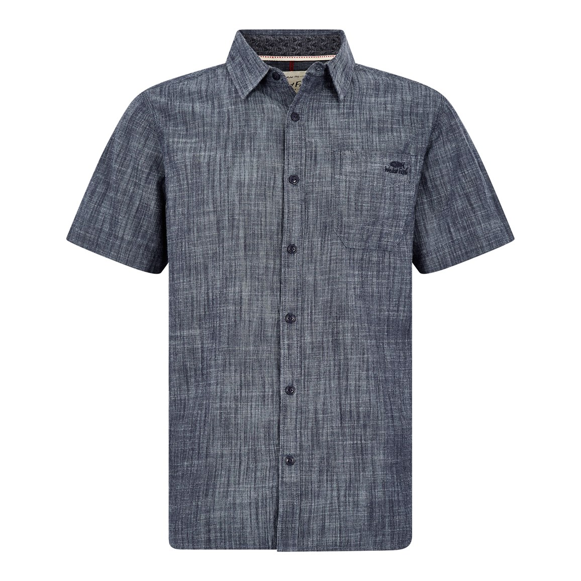 Weird Fish Winnfield Chambray Short Sleeve Shirt Denim