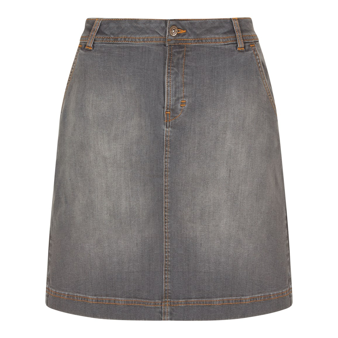 Weird Fish Ria Denim Skirt Grey Wash