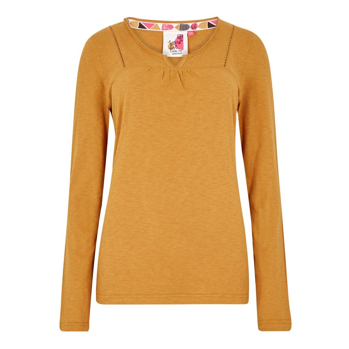 Weird Fish Walkabout Slub Cotton T-Shirt Saffron