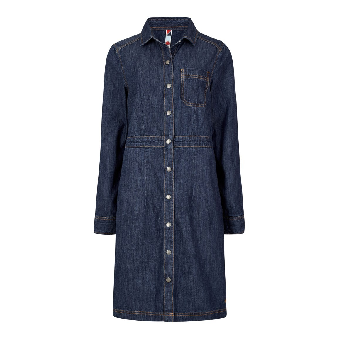 Weird Fish Greta Denim Dress Dark Denim