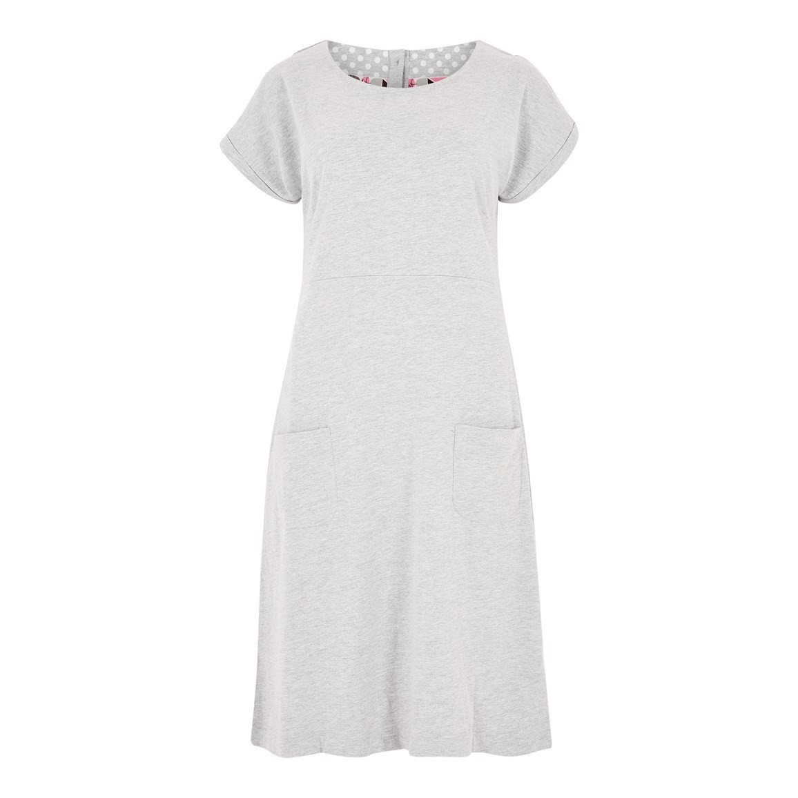 Weird Fish Talia Plain Jersey Dress Grey Marl