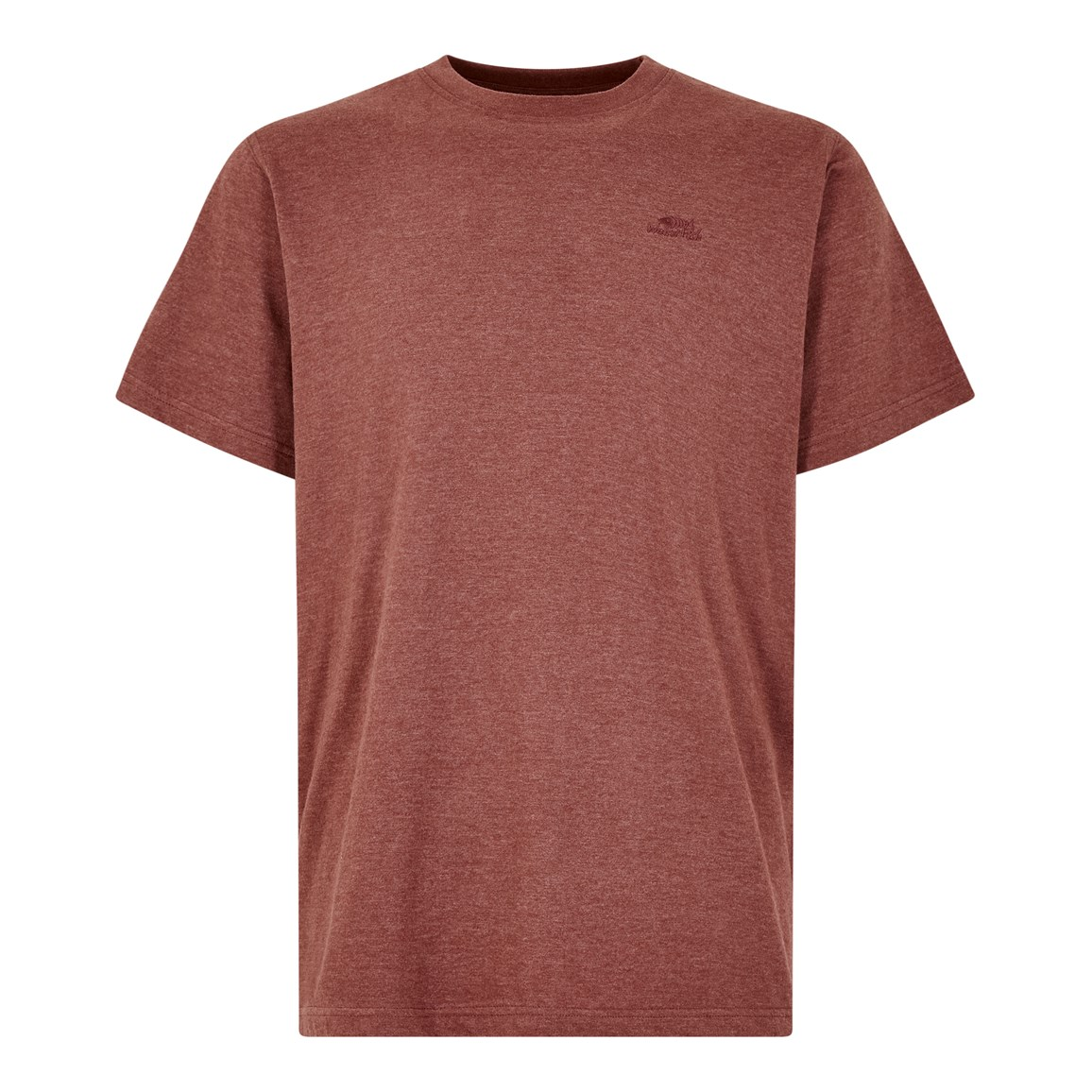 weird fish fished branded graphic t-shirt oxblood red marl size 5xl