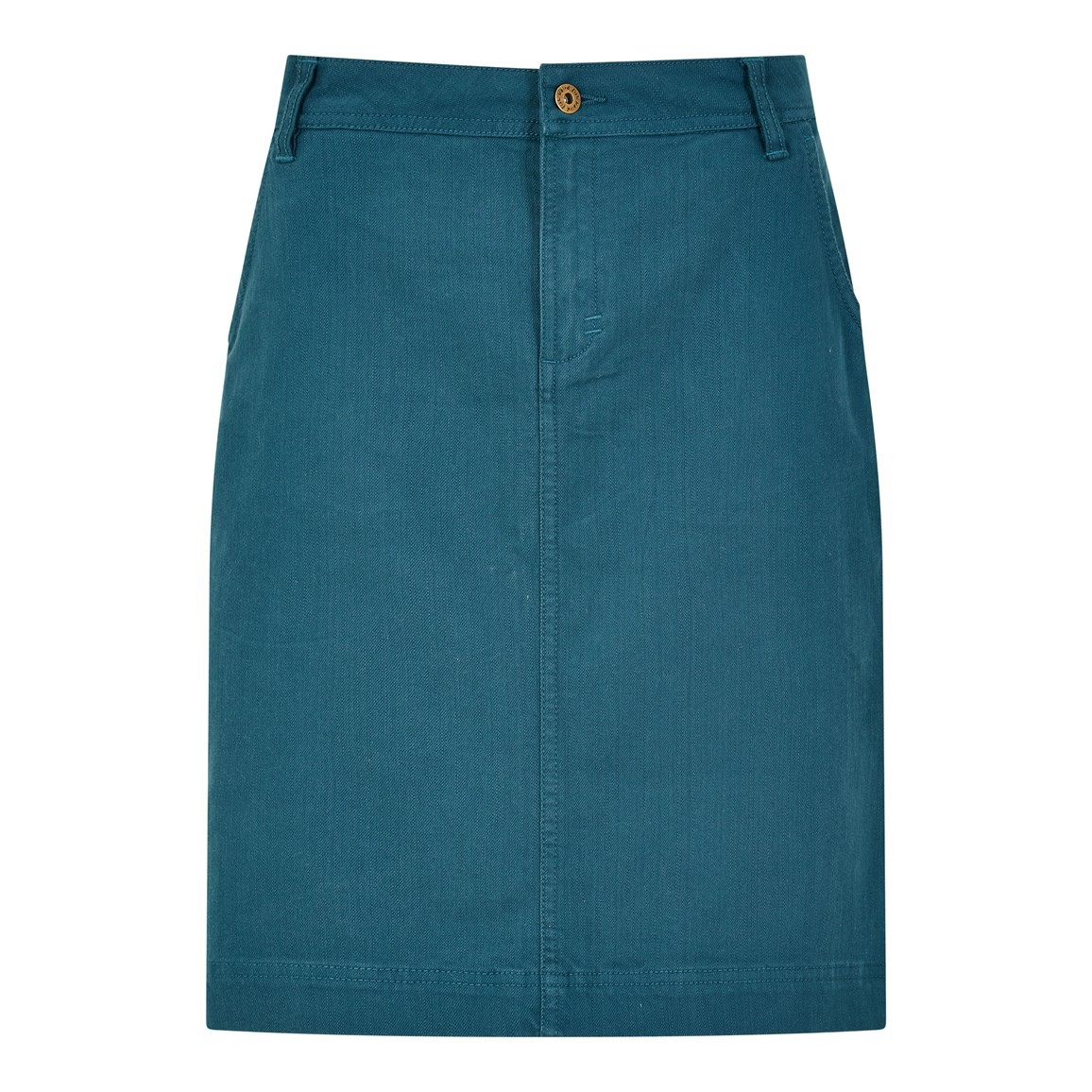 Weird Fish Irina Stretch Twill skirt Deep Sea Blue