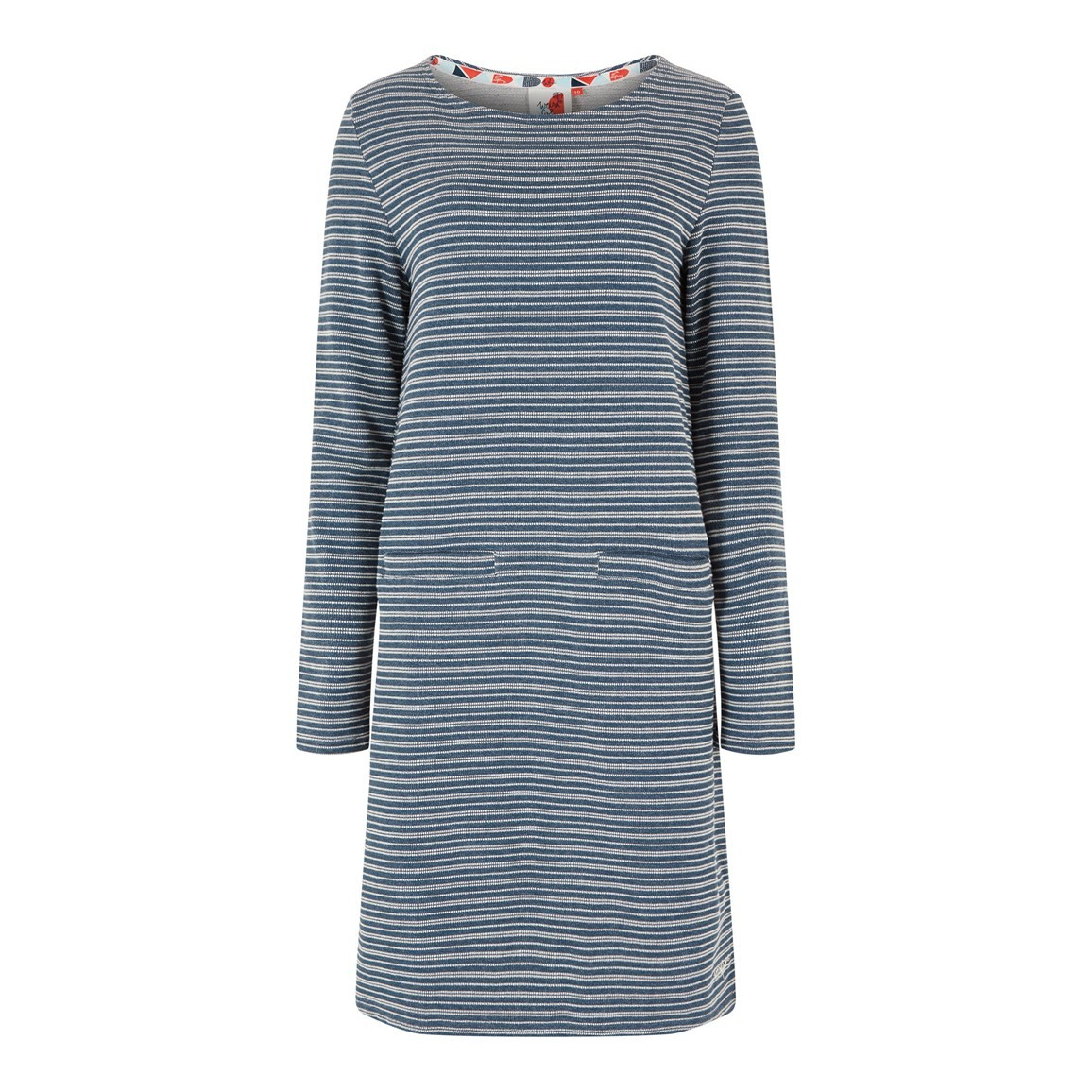 Weird Fish Sailaway Stripe Jersey Dress Dark Navy