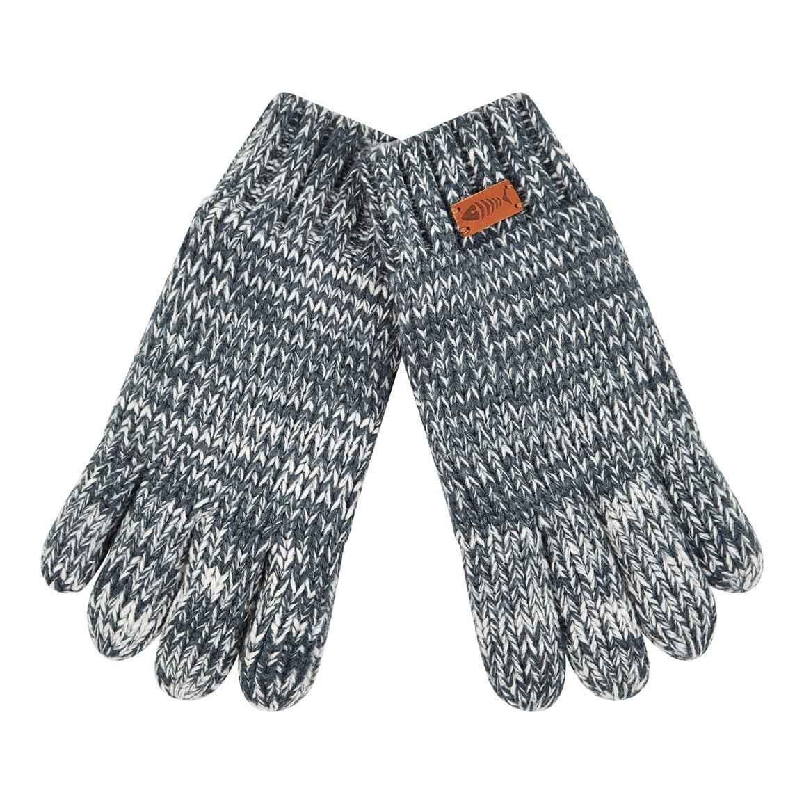 Weird Fish Terril Twisted Yarn Gloves Dusty Teal