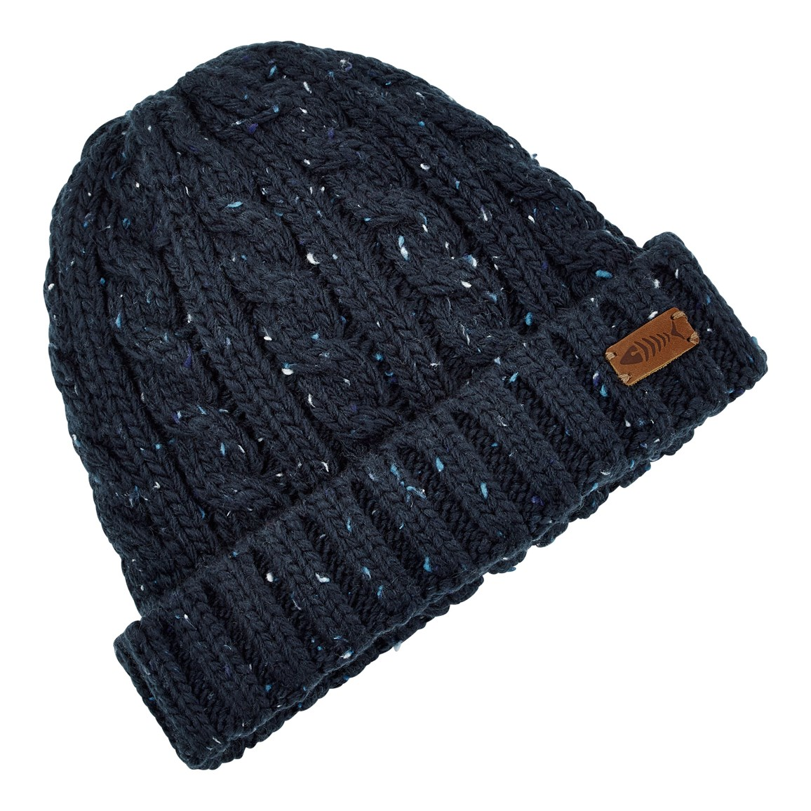 Weird Fish Hollis Cable Nepp Beanie Hat Maritime Blue