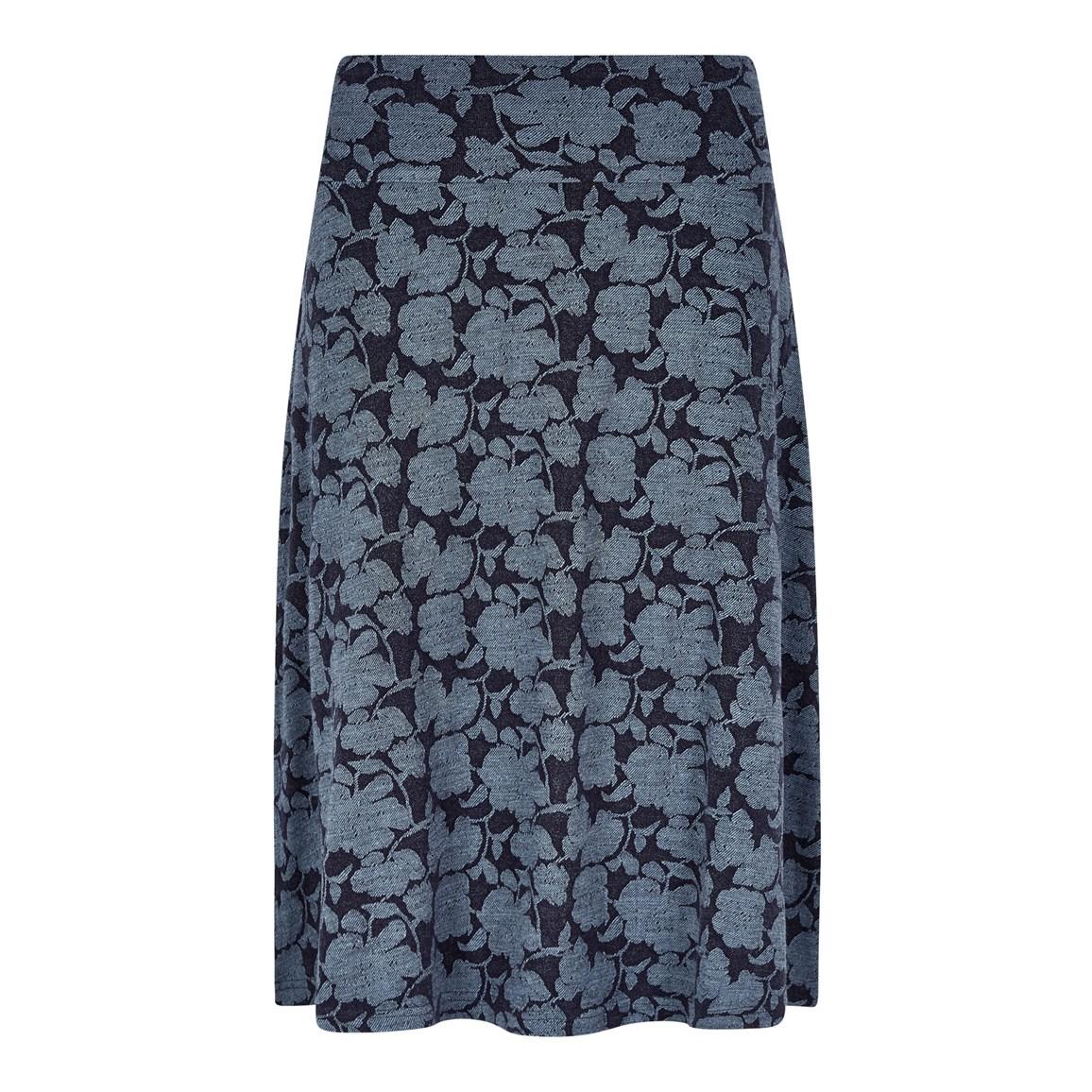 Weird Fish Bloom Jacquard Skirt Dark Navy