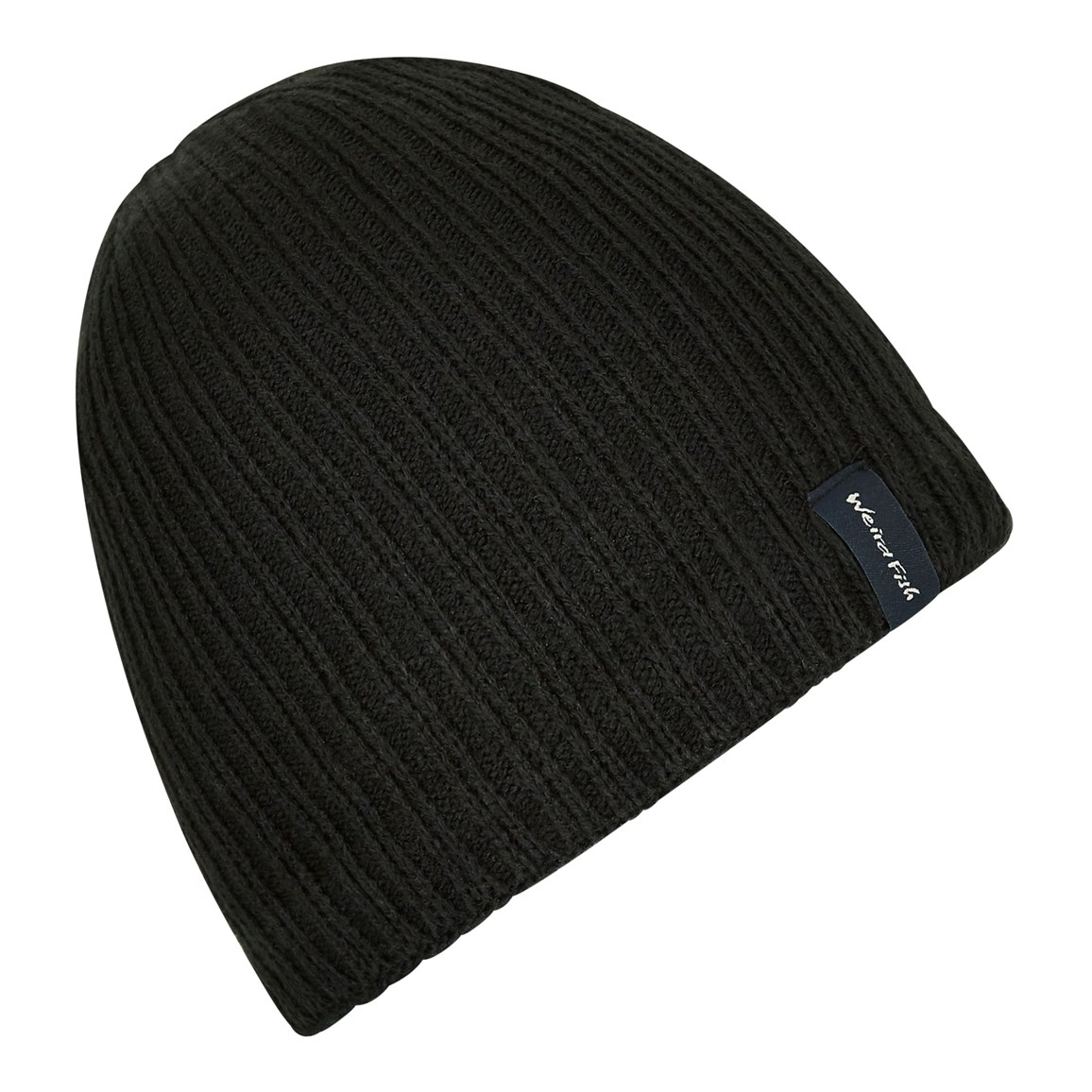 Weird Fish Bally Beanie Hat Black