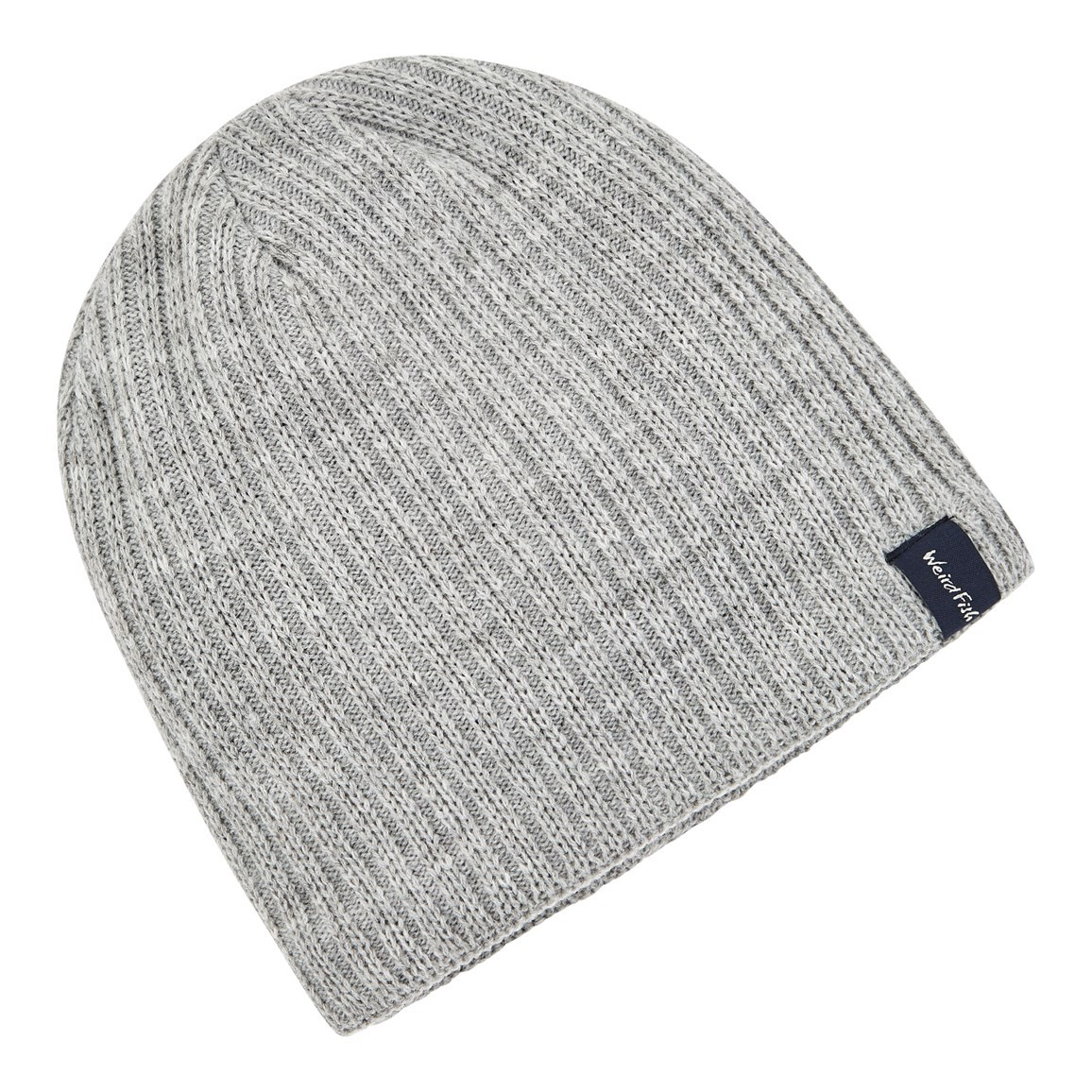 Weird Fish Bally Beanie Hat Grey
