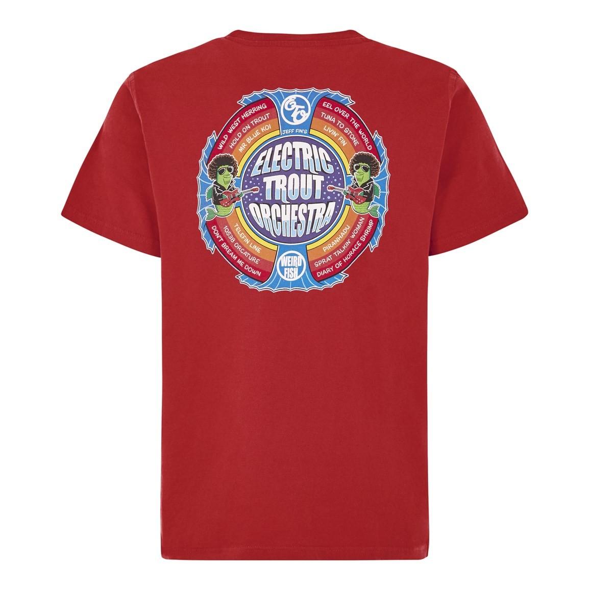 Weird Fish Electric Trout Artist T-Shirt Dark Red Size 5XL
