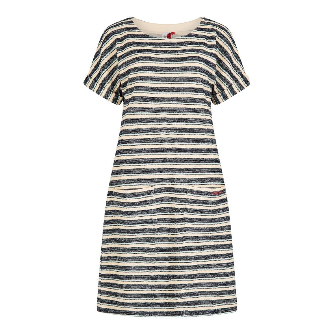 Weird Fish Brit Stripe Jersey Dress Honeydew