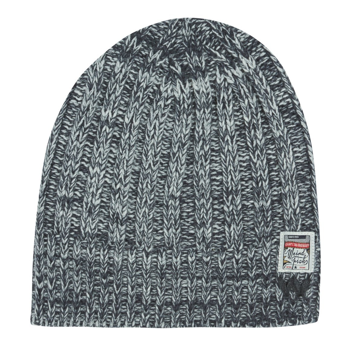 Weird Fish Finka Cable Knit Beanie Hat Midnight