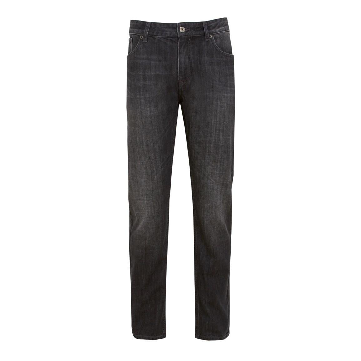 Weird Fish Matrix Classic Denim Jeans Black Wash Size 34 L