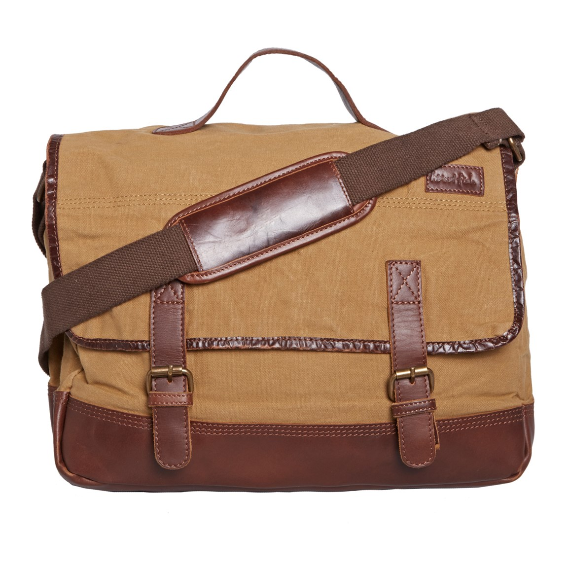 Canvas Messenger Bag Tan