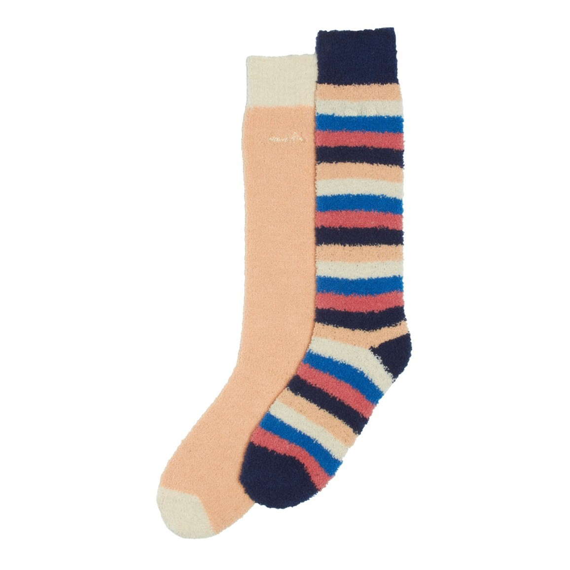 Weird Fish Park Fluffy Socks Pack of 2 Pairs Apricot