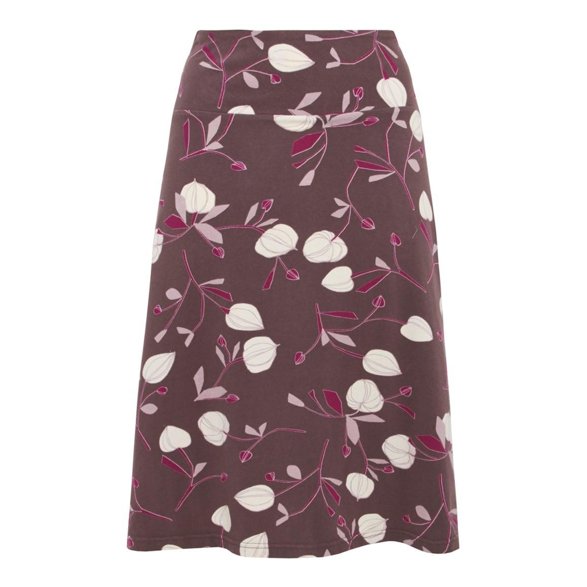 Weird Fish Covert Printed Jersey Skirt Raisin Size 10