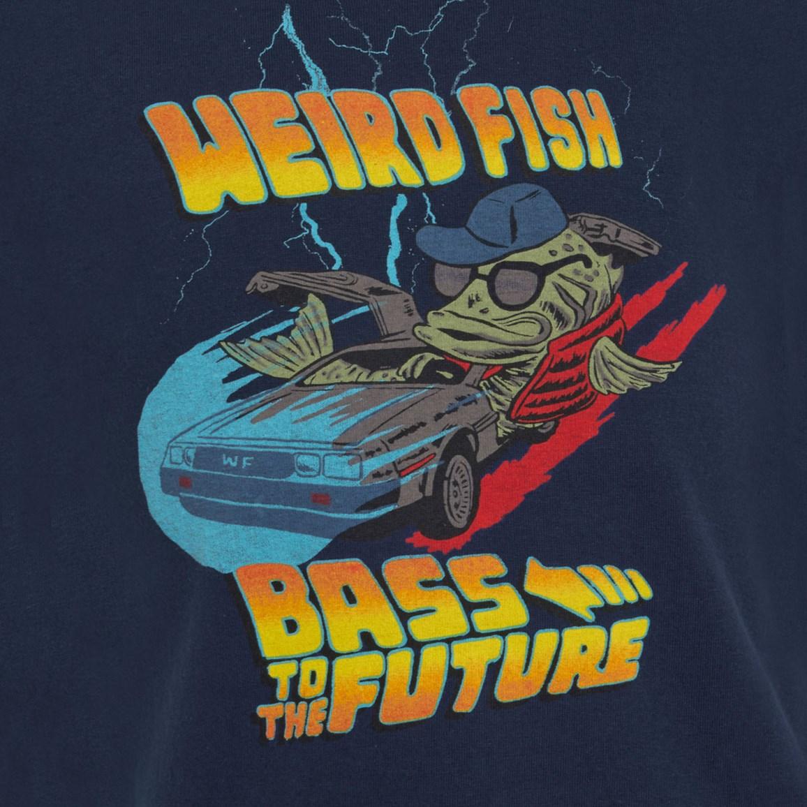 Weird Fish Bass To The Future Artist T-Shirt Estate blue Size 11-12