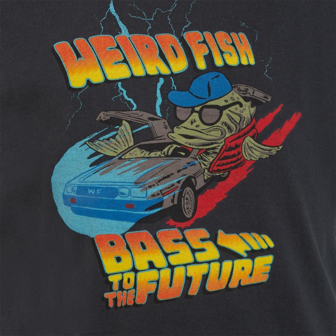 Weird Fish Bass To The Future Artist T-Shirt Charcoal Size 11-12