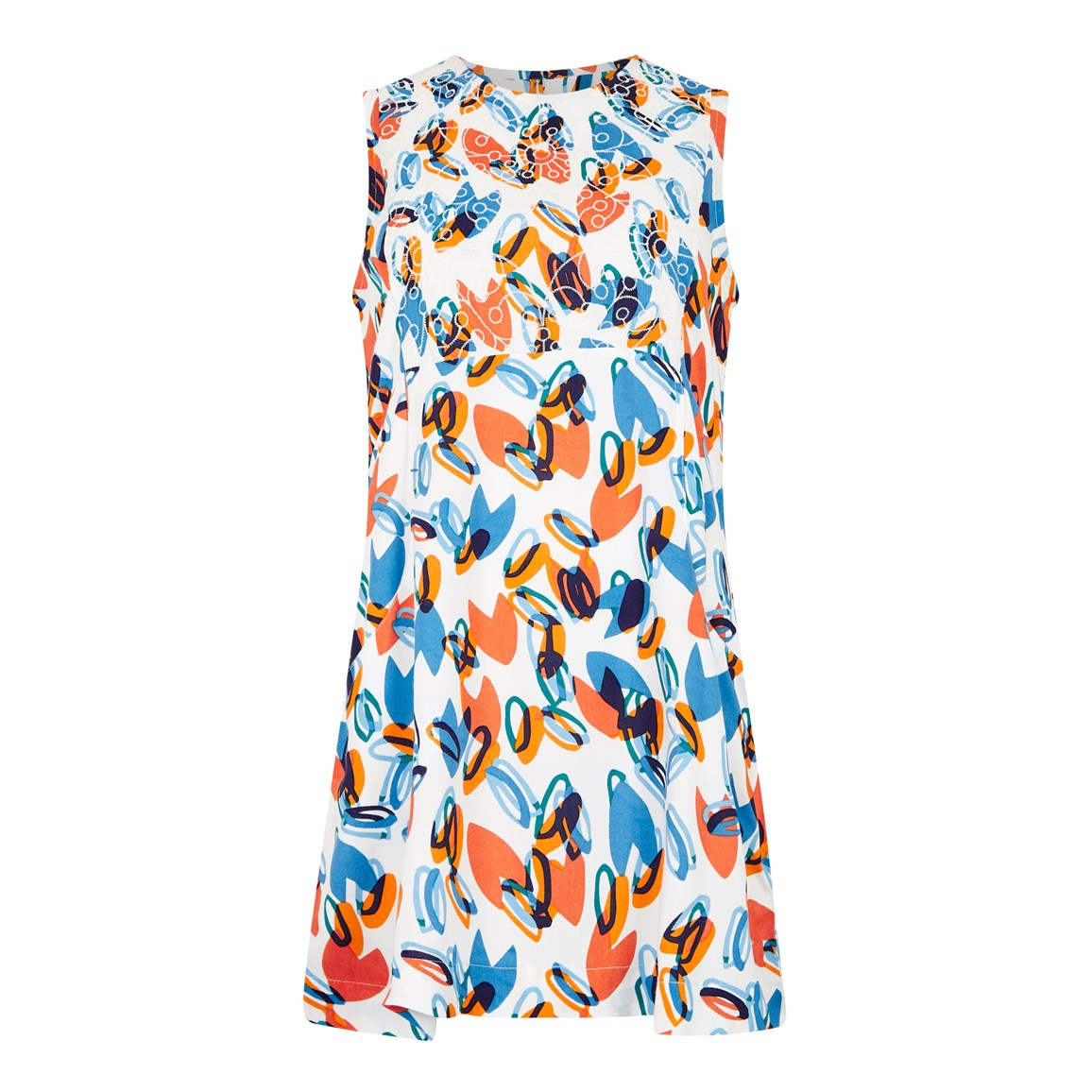 CHEAP Weird Fish Sachi Printed Lightweight Tunic Blue Wash Size 20 26100650807 – Men's Tops