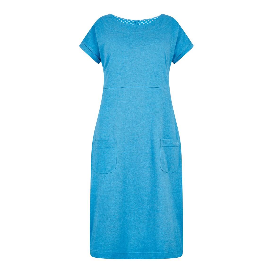 Women's Dresses & Skirts Weird Fish Talia Plain Jersey Dress Blue Wash Size 20