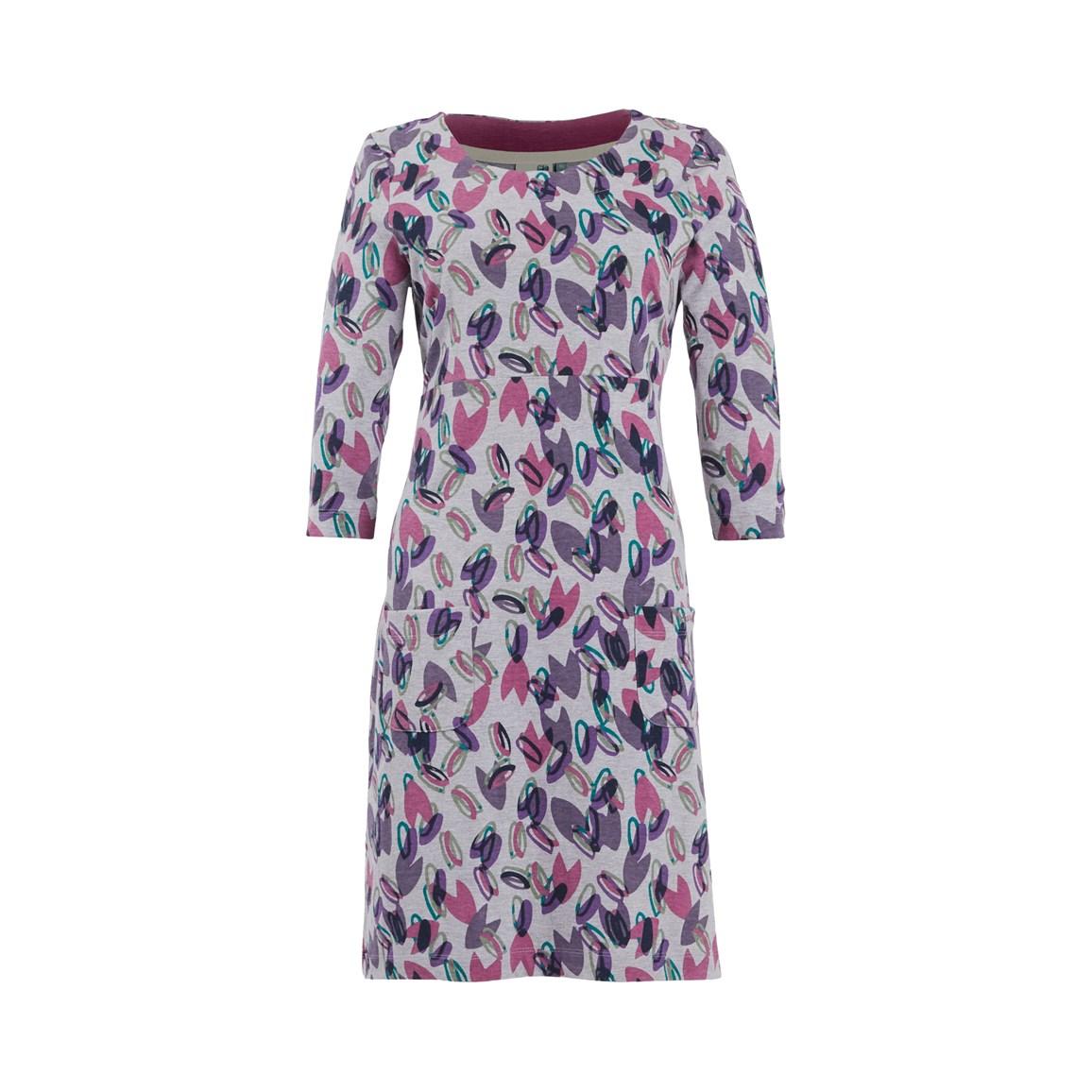 Women's Dresses & Skirts Weird Fish Starshine Patterned Jersey Dress Grey Marl Size 12