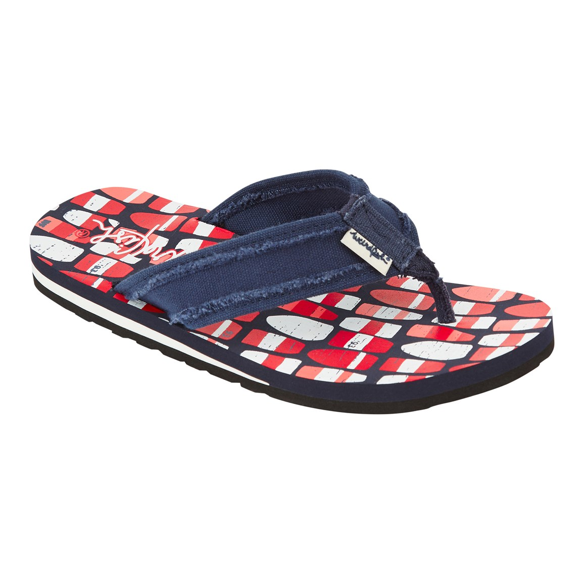 weird fish salcombe printed flip flop radical red size 4