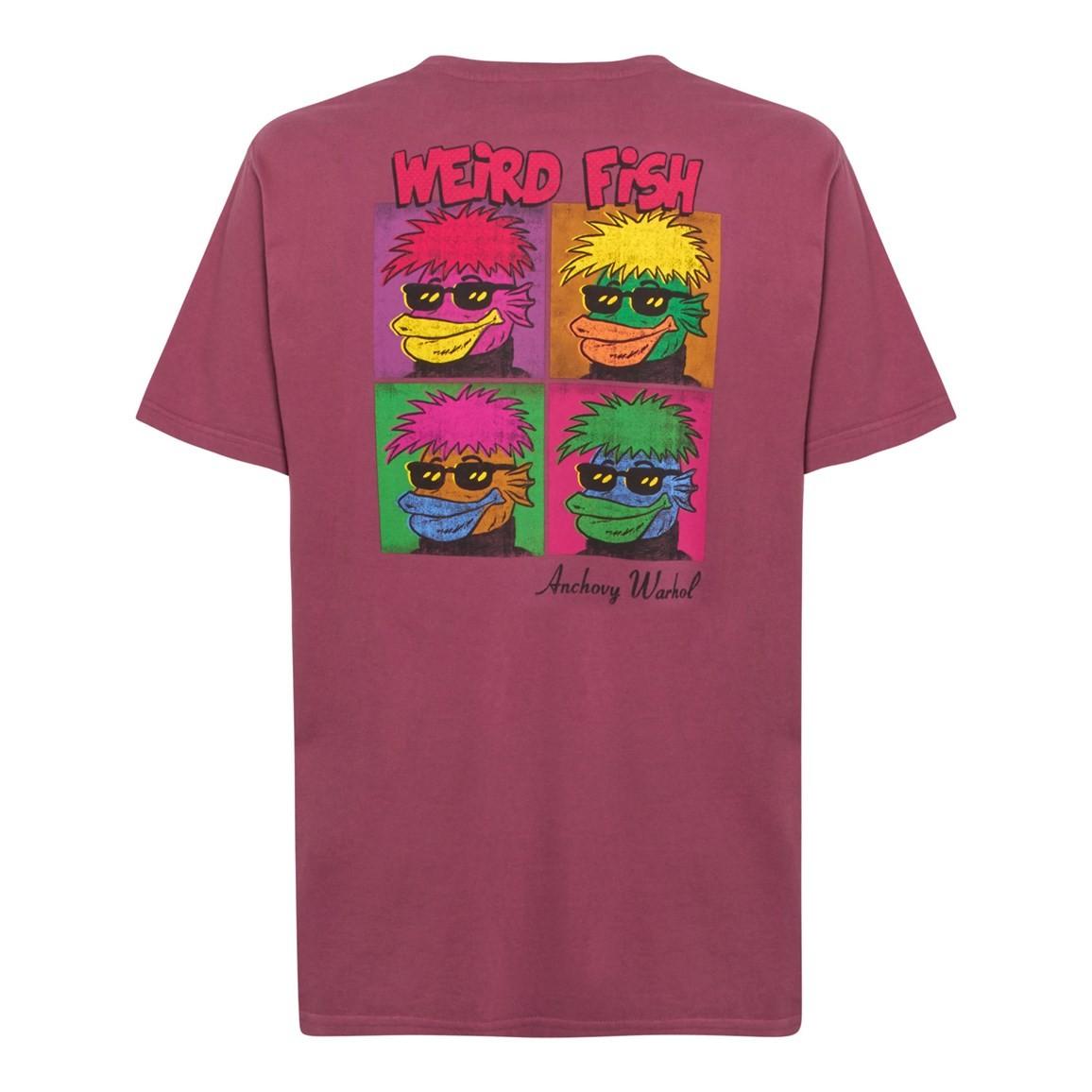 Weird Fish Anchovy Warhol Back Print Artist T-Shirt Soft Port Size 2XL