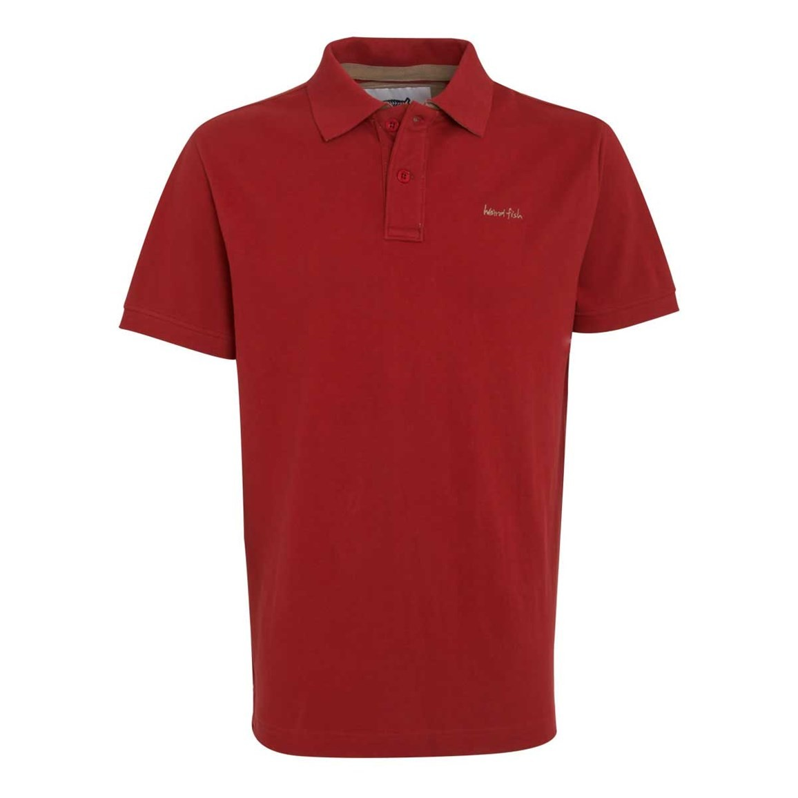 Image of Weird Fish Barros Classic Pique Polo Shirt Chilli Red Size 5XL