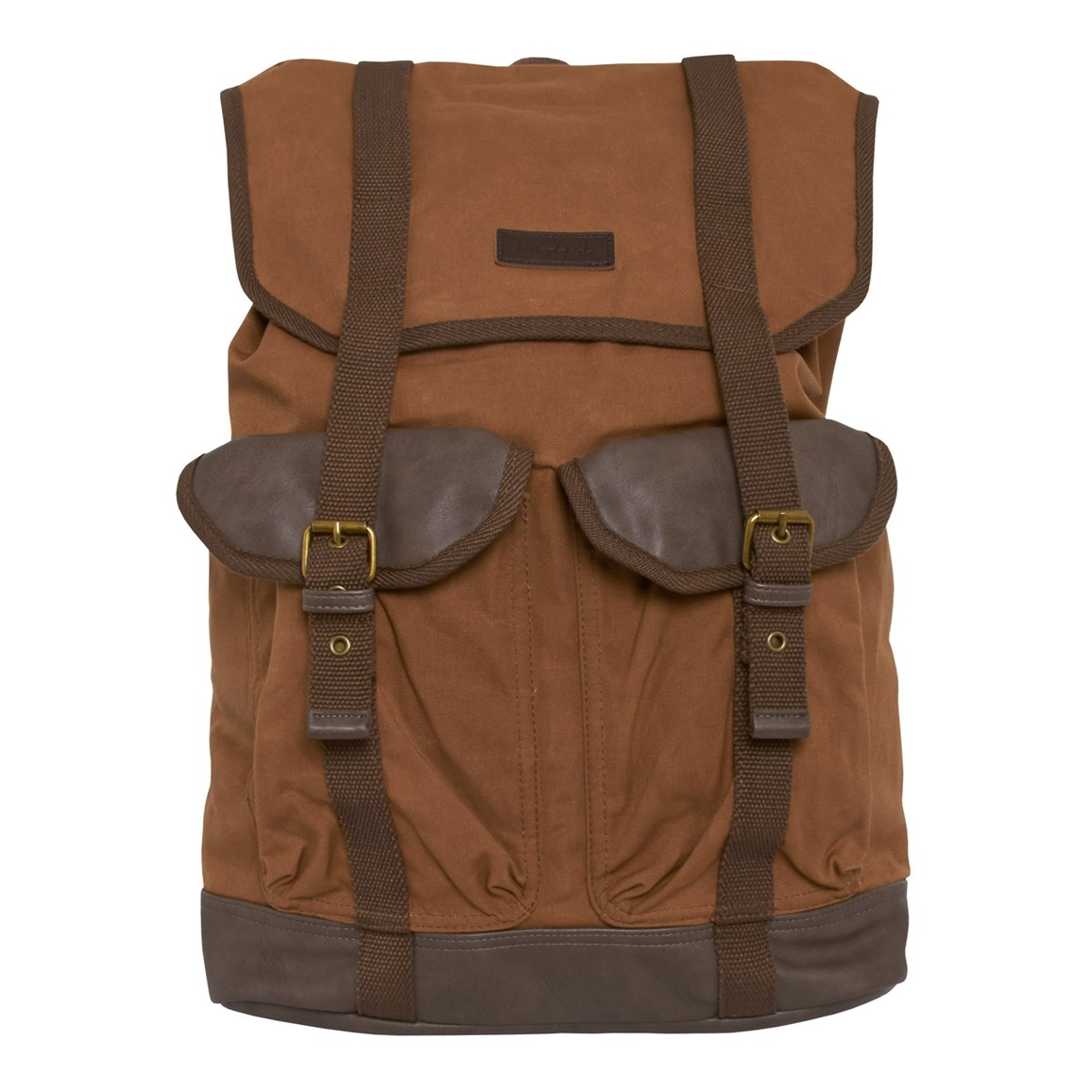 Weird Fish Anton Waxed Canvas Back Pack Dark Tan