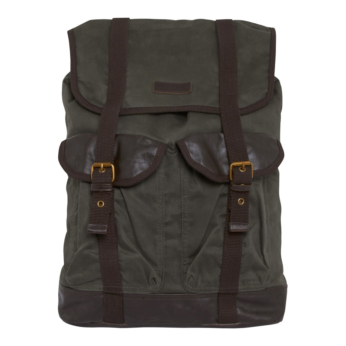 Weird Fish Anton Waxed Canvas Back Pack Onyx