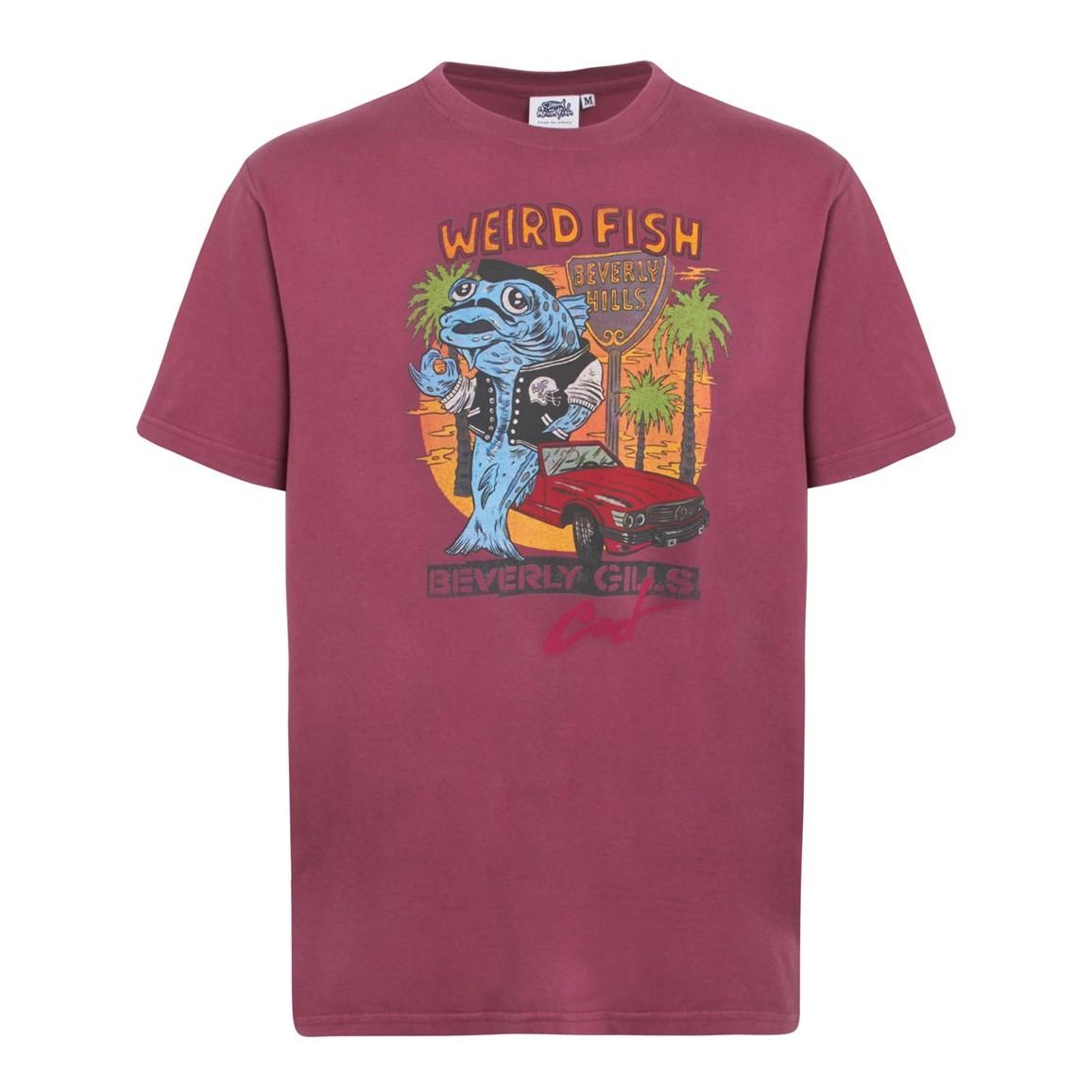 Weird Fish Beverley Gills Cod Front Print Artist T-Shirt Soft Port Size 2XL