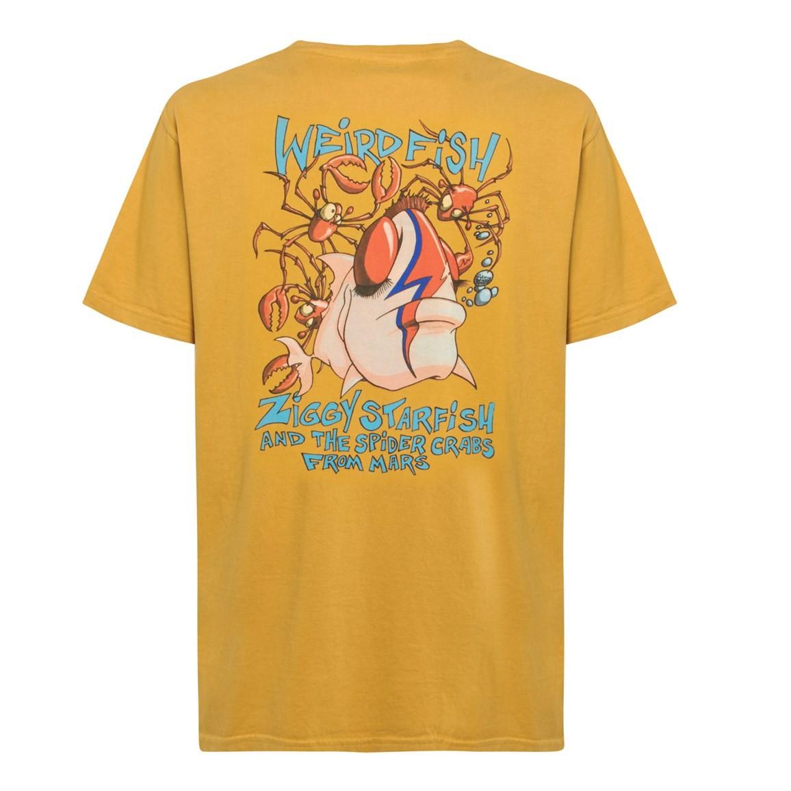 Weird Fish Ziggy Starfish Back Print Artist T-Shirt Deep Amber Size 2XL