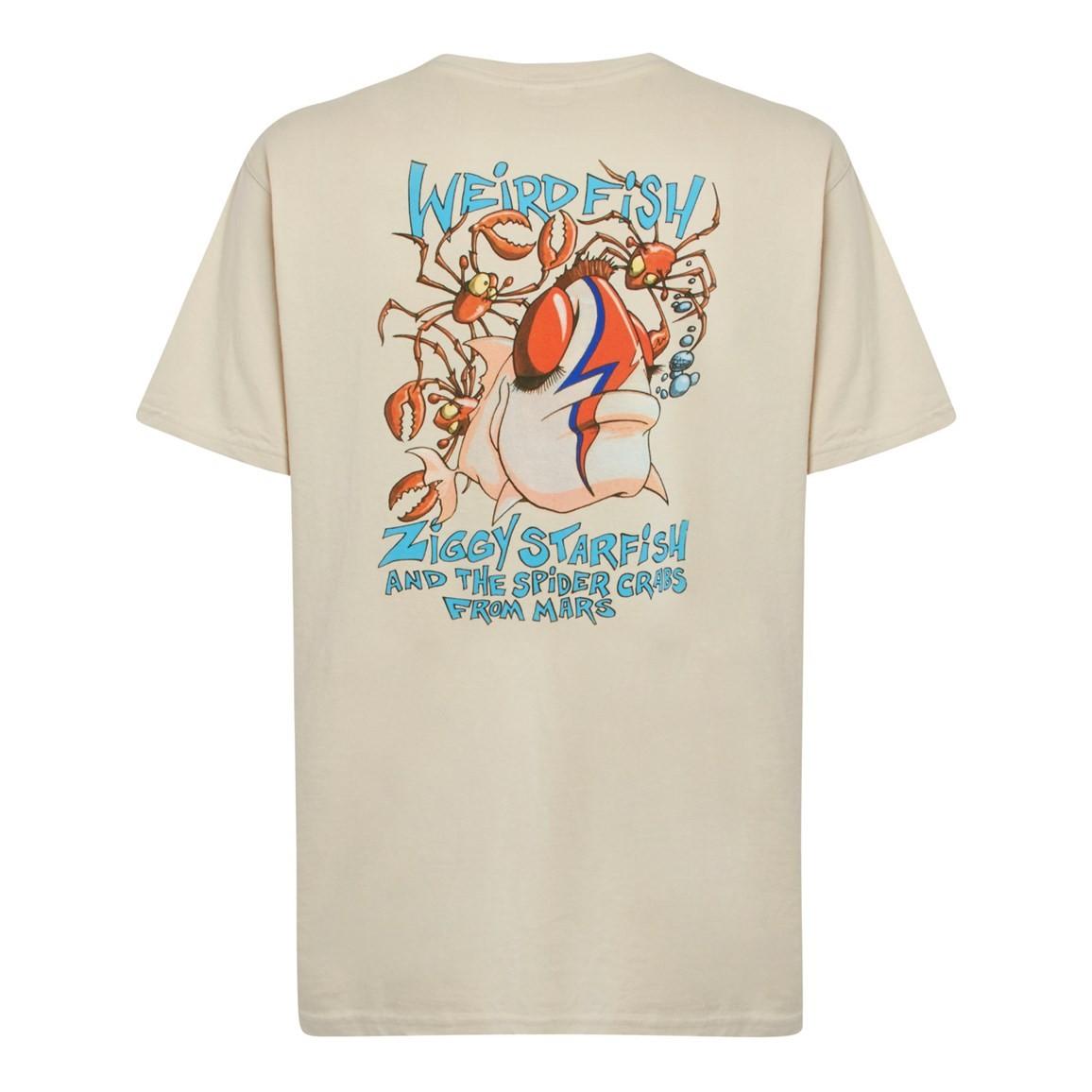 Weird Fish Ziggy Starfish Back Print Artist T-Shirt Oyster Size 2XL
