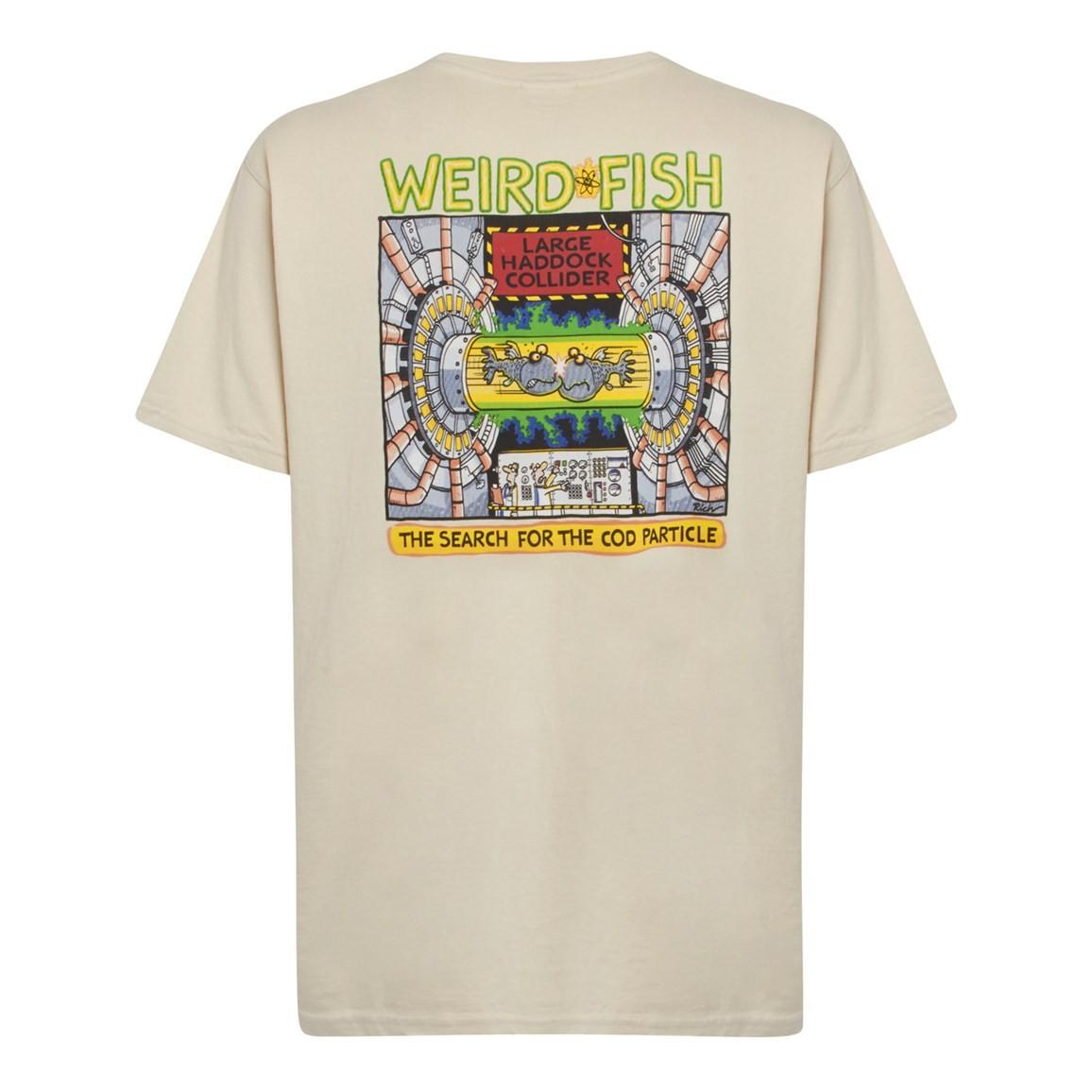 Weird Fish Haddock Collider Back Print Artist T-Shirt Oyster Size 2XL