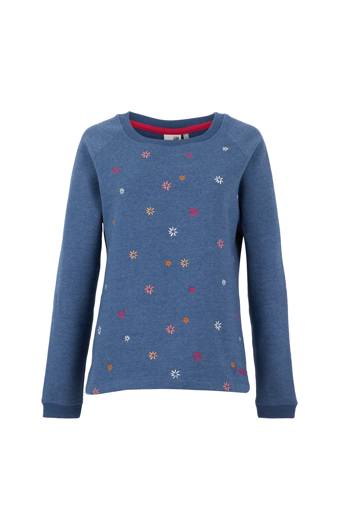 Men's Tops Weird Fish Angra Embroidered Crew Neck Sweat Ensign Blue Size 18