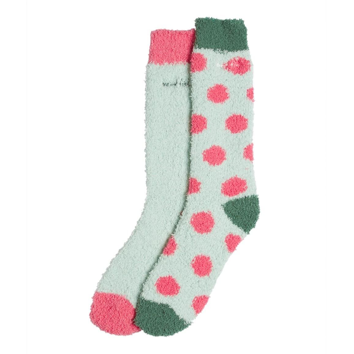 Weird Fish Park Fluffy Socks 2 Pack Mint Green