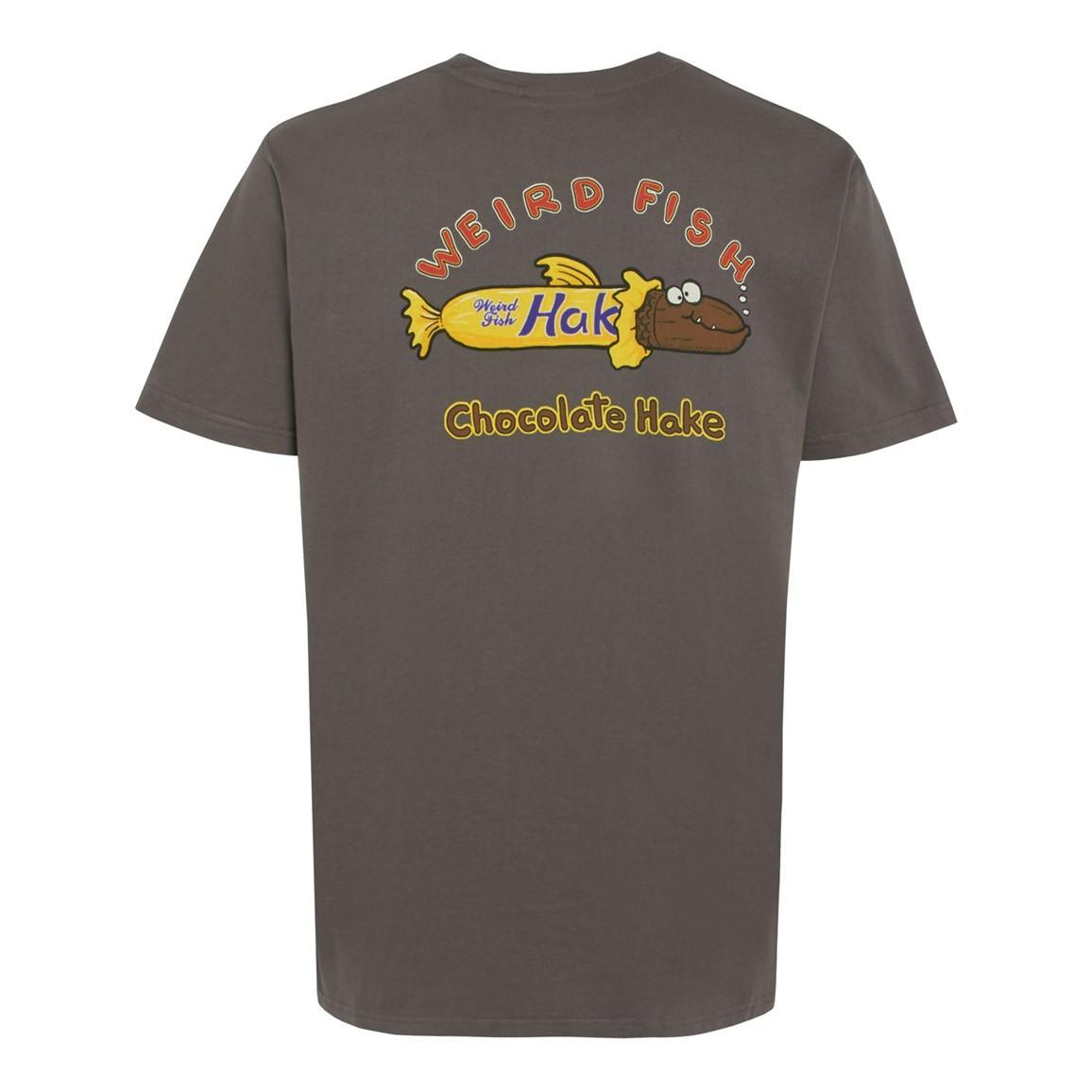 Weird Fish Chocolate Hake Artist T-Shirt Dark Gull Grey Size 2XL