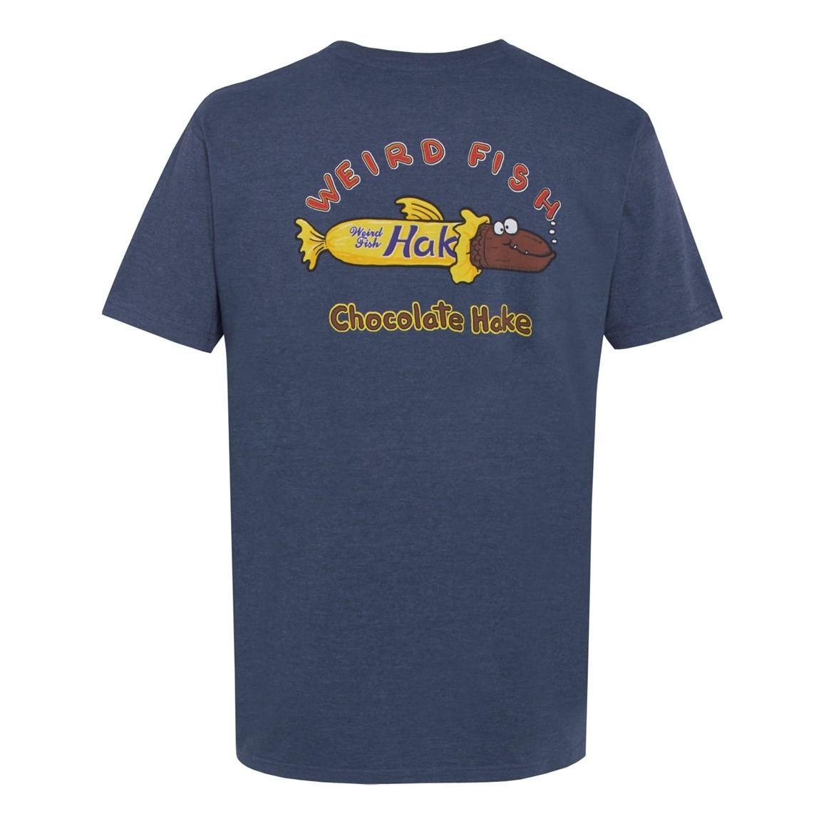 Weird Fish Codbury Hake Artist T-Shirt Blue Mirage Size 2XL