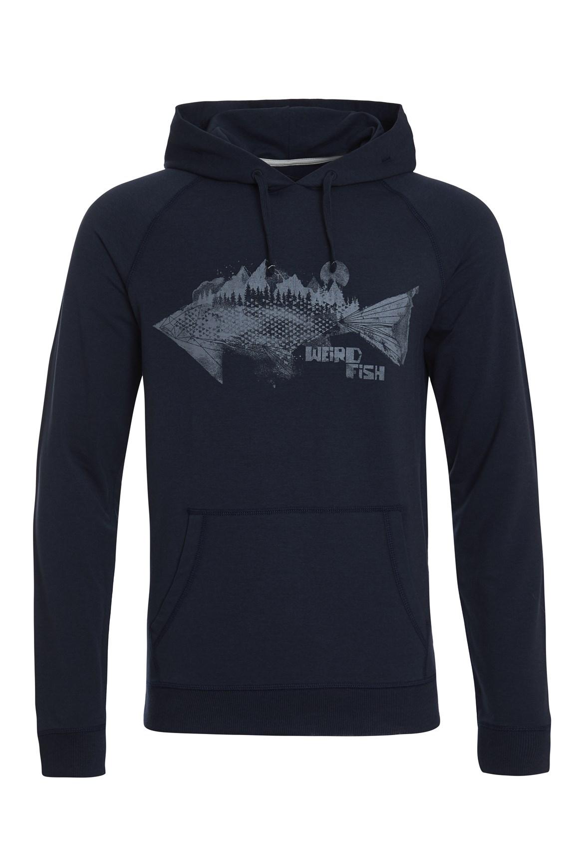 Men's Tops Weird Fish Ares Bamboo Branded Hoodie Dark Navy Size 5XL